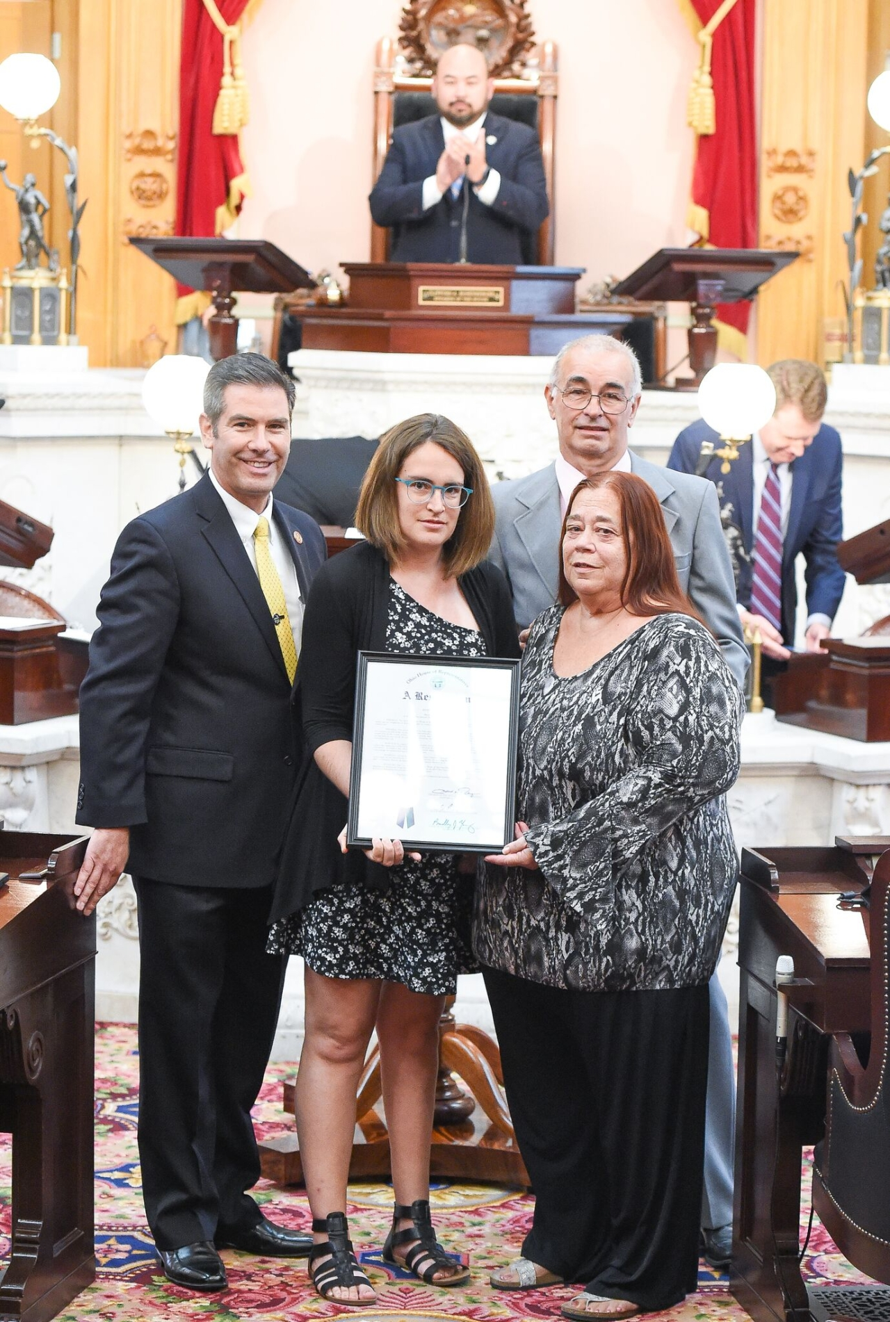 Rep. Riedel Honors Local Cycling Champion
